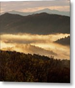 Valley Fog At Sunrise Two Metal Print