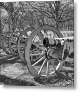 Valley Forge Battery Blackened White Metal Print