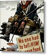 Valley Forge Soldier - Conservation Propaganda Metal Print