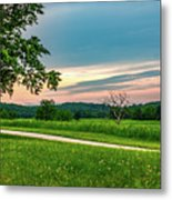 Valley Forge Sunset Metal Print
