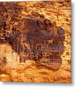 Valley Of Fire Ancient Petroglyphs Metal Print