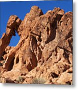 Valley Of Fire Elephant Rock Metal Print
