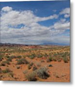 Valley Of Fire Horizon Metal Print