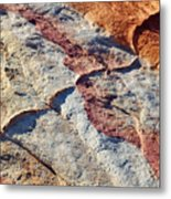 Valley Of Fire White Domes Sandstone Metal Print