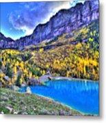 Valley Peak And Falls Metal Print