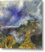 Valley Storm Clouds Metal Print