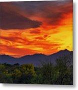 Valley Sunset H32 Metal Print