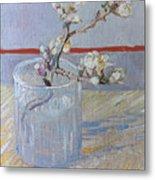 Van Gogh: Branch, 1888 Metal Print