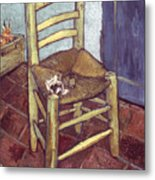 Van Gogh: Chair, 1888-89 Metal Print