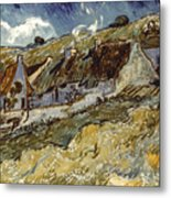 Van Gogh: Cottages, 1890 Metal Print