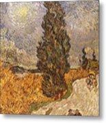 Van Gogh: Cypresses, 1889 Metal Print
