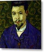 Van Gogh: Dr Rey, 19th C Metal Print