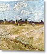 Van Gogh: Fields, 1888 Metal Print