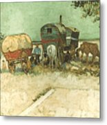 Van Gogh: Gypsies, 1888 Metal Print