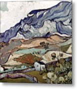 Van Gogh: Landscape, 1890 Metal Print