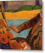 Van Gogh Painting Sunflowers 1888 Metal Print