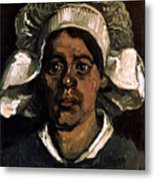 Van Gogh: Peasant, 19th C Metal Print