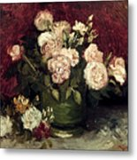 Van Gogh: Roses, 1886 Metal Print