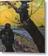 Van Gogh: Sower, 1888 Metal Print