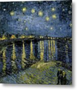 Van Gogh, Starry Night Metal Print