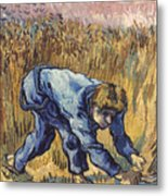 Van Gogh: The Reaper, 1889 Metal Print