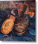 Van Gogh: The Shoes, 1887 Metal Print