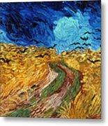 Van Gogh: Wheatfield, 1890 Metal Print