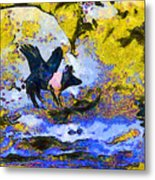 Van Gogh.s Flying Pig 3 Metal Print