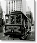 Van Ness And Market Cable Car- By Linda Woods Metal Print