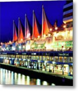 Vancouver At Night Metal Print