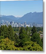 Vancouver Bc City Skyline From Queen Elizabeth Park Metal Print