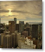 Vancouver Bc Cityscape During Sunset Metal Print