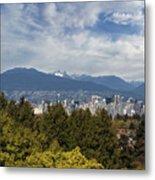 Vancouver Bc Skyline Daytime View Metal Print