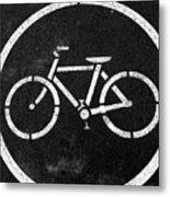 Vancouver Bike Lane- Art By Linda Woods Metal Print