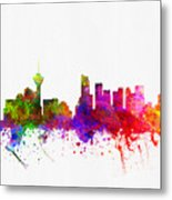Vancouver British Columbia Skyline Color02 Metal Print