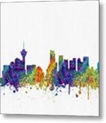 Vancouver British Columbia Skyline Color03 Metal Print