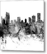 Vancouver Canada Skyline Panoramic Metal Print