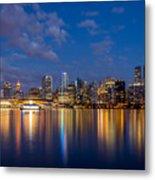 Vancouver City Twilight Metal Print