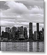 Vancouver In Black And White. Metal Print