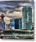 Vancouver Skyline Hdr Metal Print