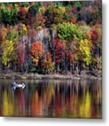 Vanishing Autumn Reflection Landscape Metal Print
