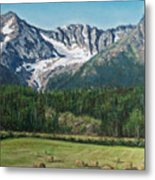 Vanishing Glacier Metal Print