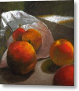 Vanzant Peaches Metal Print