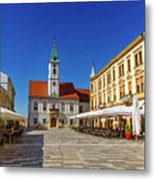 Varazdin Main Square, Croatia Metal Print