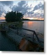 Variations Of Sunsets At Gulf Of Bothnia 6 Metal Print