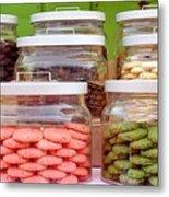 Various Cookies In Glass Jars Metal Print