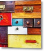 Various Old Drawers - In Utter Secrecy Metal Print