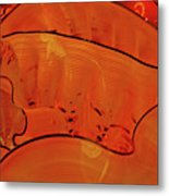 Various Orange Swirls Brown Accents Shiny 2 9132017  Metal Print