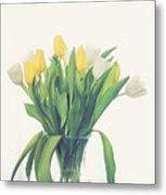 Vase Of Tulips Metal Print