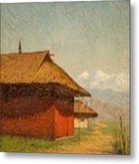 Vasily Vasilievich Vereshchagin  Russian 1842  1904 Nepalese Village Metal Print